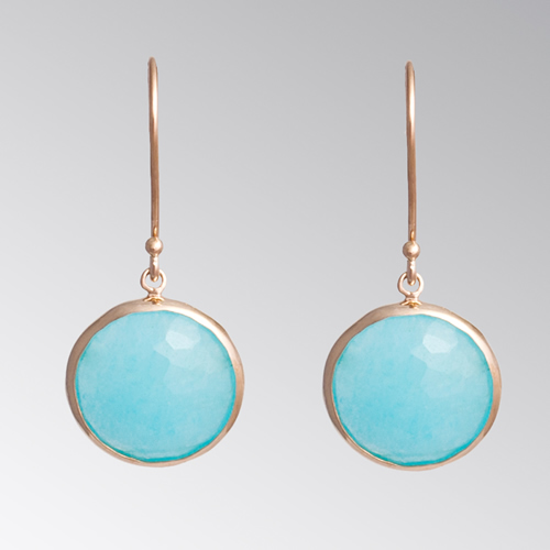 Gem Stones Earring Turquoise Blue Earrings April Venus New York Istanbul